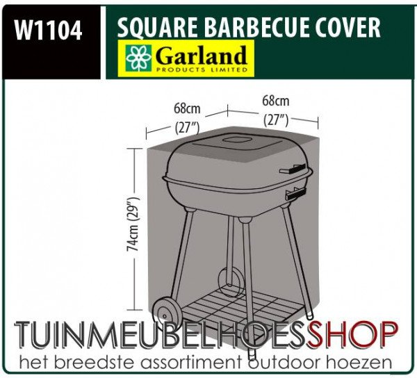 Barbeque hoes 68 x 68 H: 74 cm