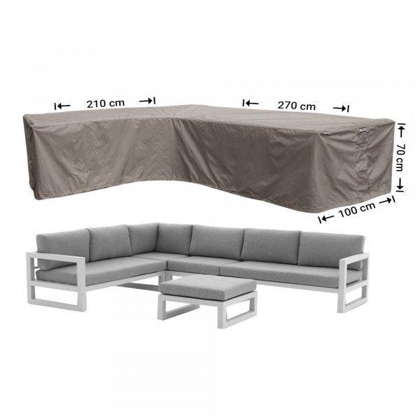 Beschermhoes hoekbank 270 x 210 x 100 H: 70 cm