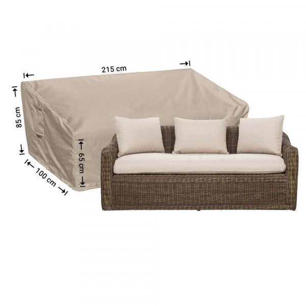 Hoes voor loungebank 215 x 100 H: 85/65 cm