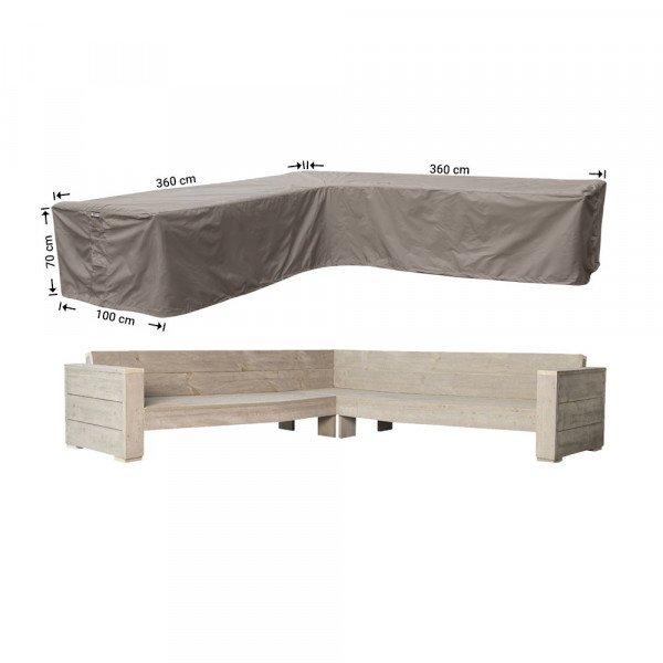 Beschermhoes hoekbank 360 x 360 x 100 H: 70 cm