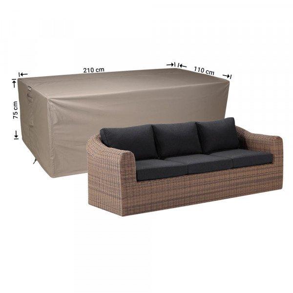 Loungebank hoes 210 x 110 H: 75 cm