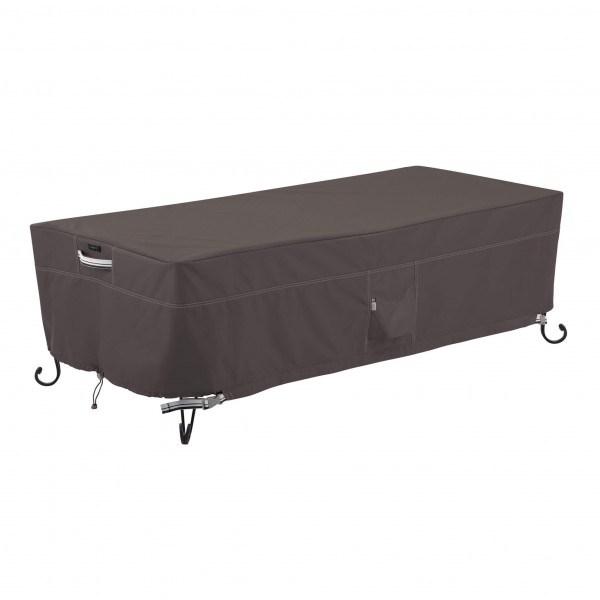 Hoes voor lage fire pit table 152 x 71 H: 38 cm