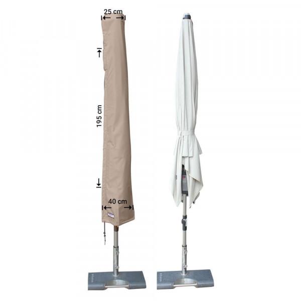 Hoes voor parasol H: 195 cm