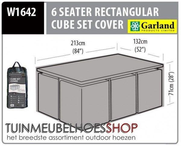 Hoes voor tafel met stoelen 212 x 132 H: 71 cm