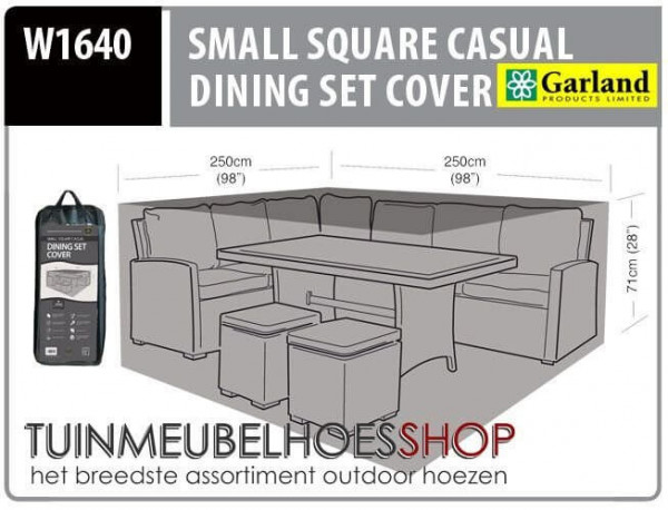 Lounge dining set hoes 250 x 250 H: 71 cm