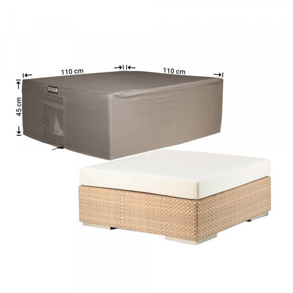 Hoes voor lage tuintafel 110 x 110 H: 45 cm