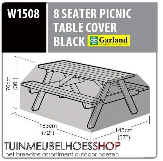 Hoes voor picnictafel 183 x 145 H: 76 cm