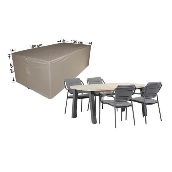 Tuinmeubelhoes tafel + stoelen 180 x 135 H: 85 cm
