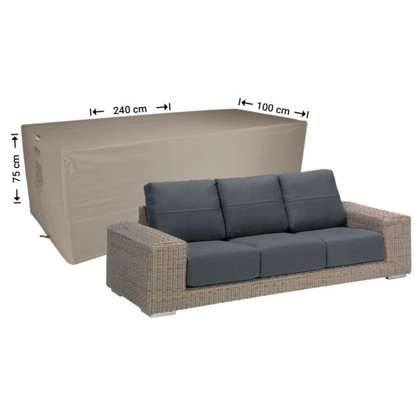 Tuinhoes loungebank 240 x 100 H: 75 cm
