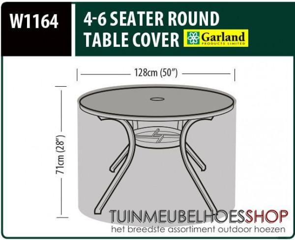 Beschermhoes ronde tuintafel Ø: 128 cm & H: 71 cm