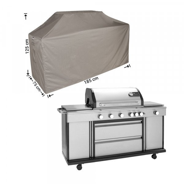 Barbecue afdekhoes 185 x 75 H: 125/115 cm