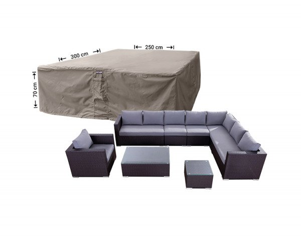 Hoes complete loungeset 300 x 250 H: 70 cm