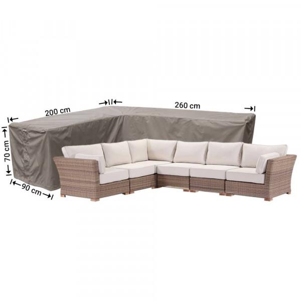 Hoes voor hoekbank 260 x 200 x 90 H: 70 cm