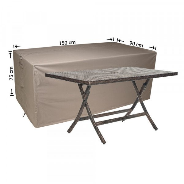 Tuintafel beschermhoes 150 x 90 H: 75 cm