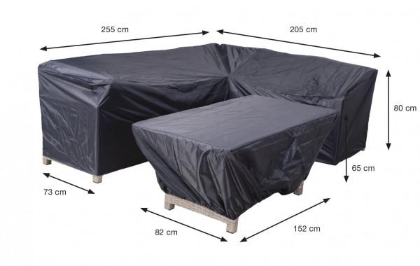 Hoes voor loungebank en hocker 255 x 205 H: 80 cm