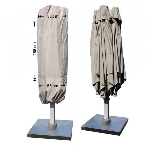 Parasolhoes voor P6 horeca parasol XL met 4 doeken H: 255 cm