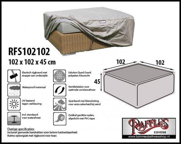Loungetafel hoes 102 x 102 H: 45 cm