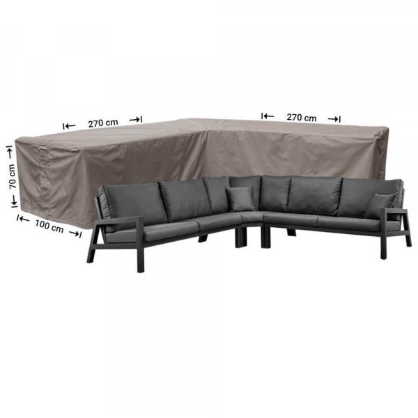 Hoes voor hoeklounge 270 x 270 x 100 H: 70 cm
