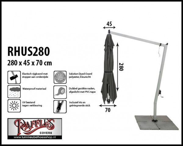 Hoes voor een hangparasol H: 280 cm