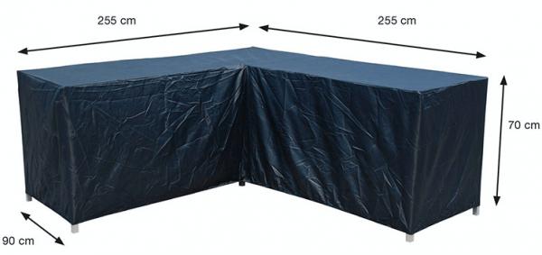 Loungehoekbankhoes 255 x 255 x 90 H: 70 cm