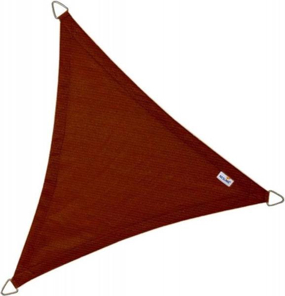 Coolfit schaduwdoek driehoek 3,6m - terracotta