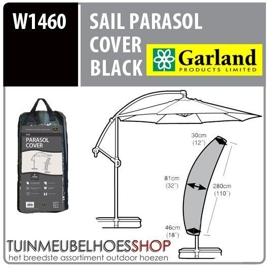 Parasolhoes zweefparasol H: 280 cm