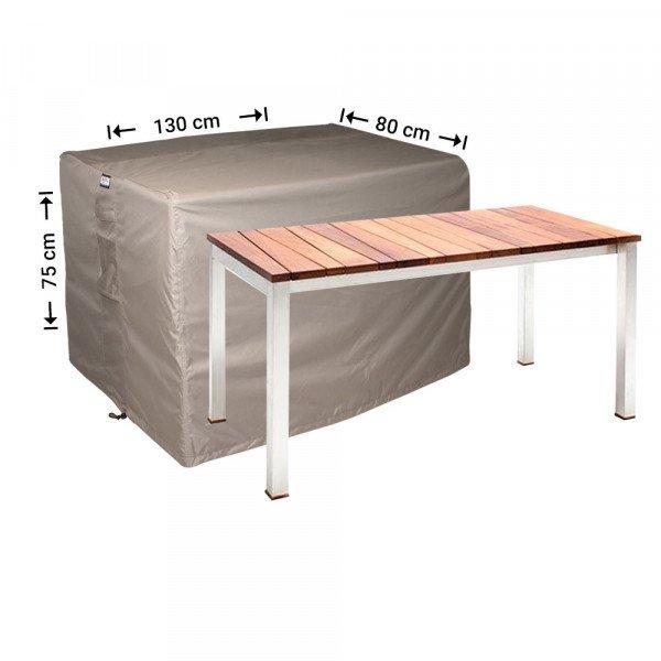Tuinhoes rechthoekige tuintafel 130 x 80 H: 75 cm