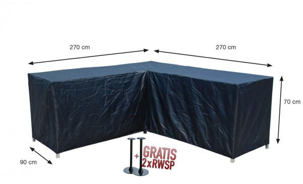 Hoes hoeklounge 270 x 270 x 90 H: 70 cm