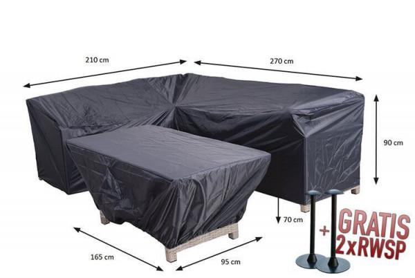 Dininghoekbank en tafelhoes 270 x 210 x 85 H: 90 cm