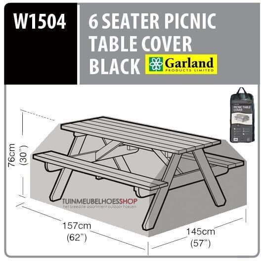 Tuintafel hoes picnic tafel 157 x 145 H: 76 cm