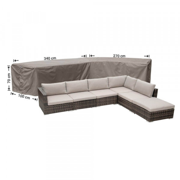 Loungebankhoes 340 x 270 x 100 H: 70 cm