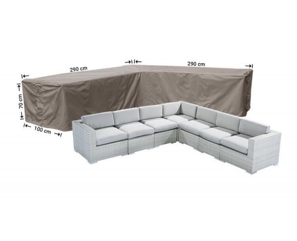 Loungebankhoes hoek 290 x 290 x 100 H: 70 cm