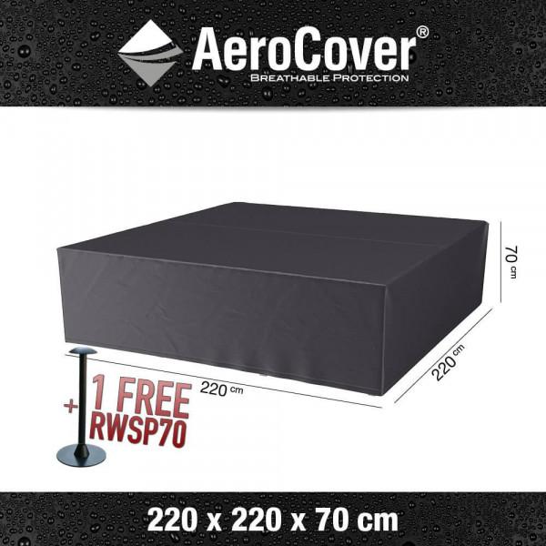 Hoes voor vierkante loungeset 220 x 220 H: 70 cm