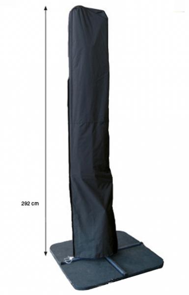 Rechte zweefparasolhoes H: 292 cm
