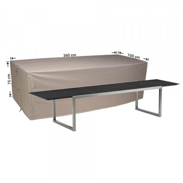 Hoes buiten tafel 360 x 100 H: 75 cm