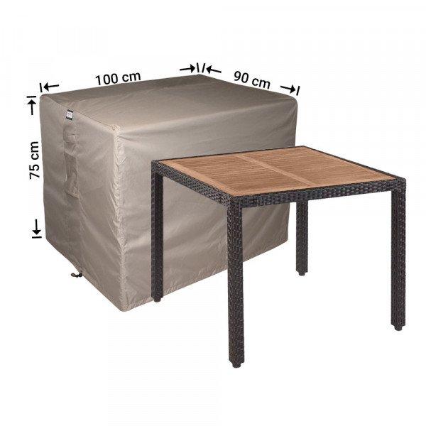Hoes voor tuintafel 100 x 90 H: 75 cm