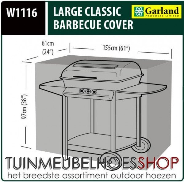 Buitenhoes barbecue 155 x 61 H: 97 cm