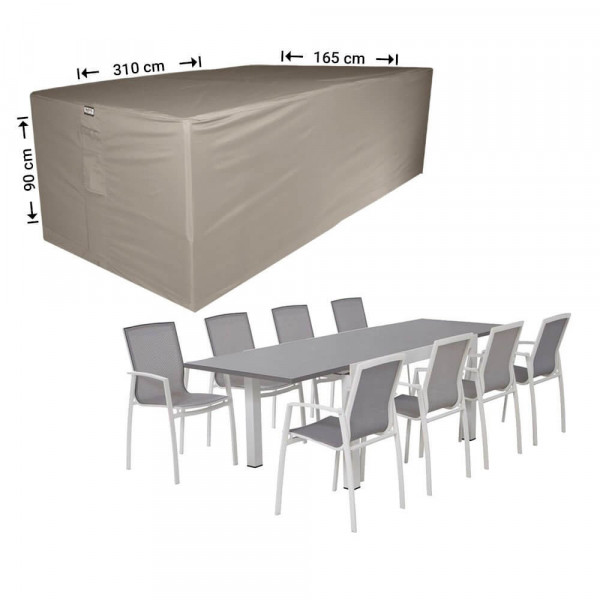 Tuinset hoes 310 x 165 H: 90 cm