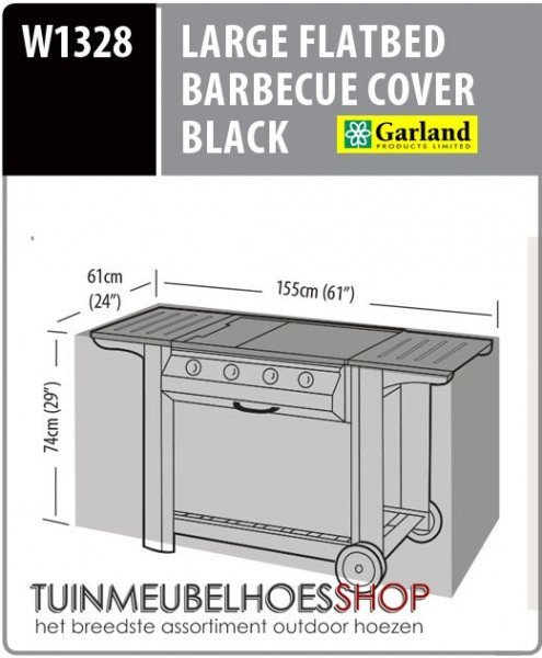 Hoes voor barbecue 155 x 61 H: 74 cm