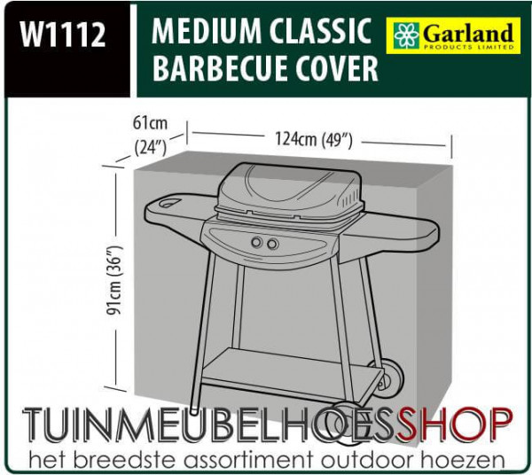 Beschermhoes barbecue 124 x 61 H: 91 cm