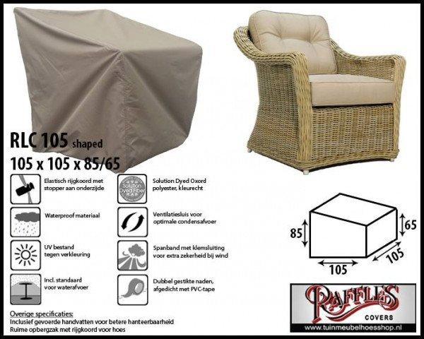 Afdekhoes loungestoel 105 x 105 H: 85 /65 cm