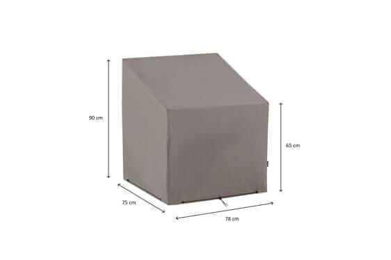 Hoes voor loungestoel 75 x 78 H: 90/65 cm