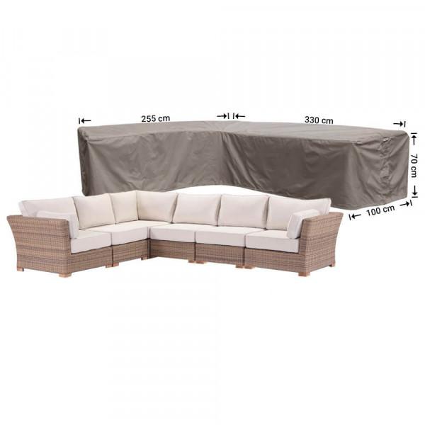 Loungesethoes hoekbank 330 x 255 x 100 H: 70 cm