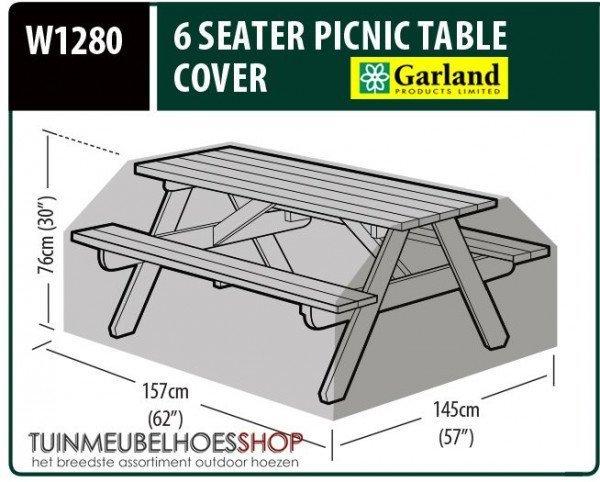 Picknicktafel hoes 157 x 145 H: 76 cm