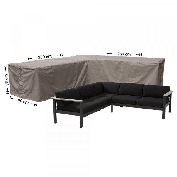 Hoes loungeset hoek 250 x 250 x 90 H: 70 cm